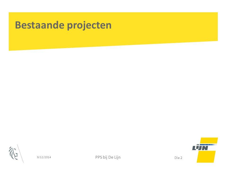 Voorbereiding: Publiek – publieke afstemming Vastleggen scope Life cycle management Kennisopbouw en kennisontwikkeling bij alle betrokkenen Transparantie 9/12/2014 PPS bij De Lijn Dia 13