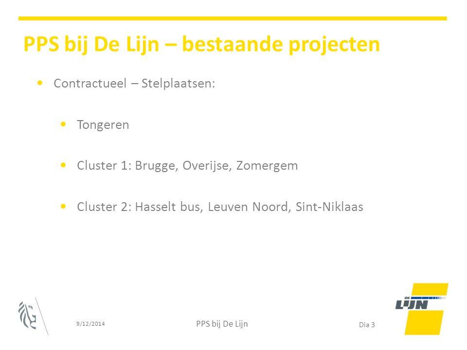Contractueel – Stelplaatsen: Tongeren Cluster 1: Brugge, Overijse, Zomergem Cluster 2: Hasselt bus, Leuven Noord, Sint-Niklaas 9/12/2014 PPS bij De Li