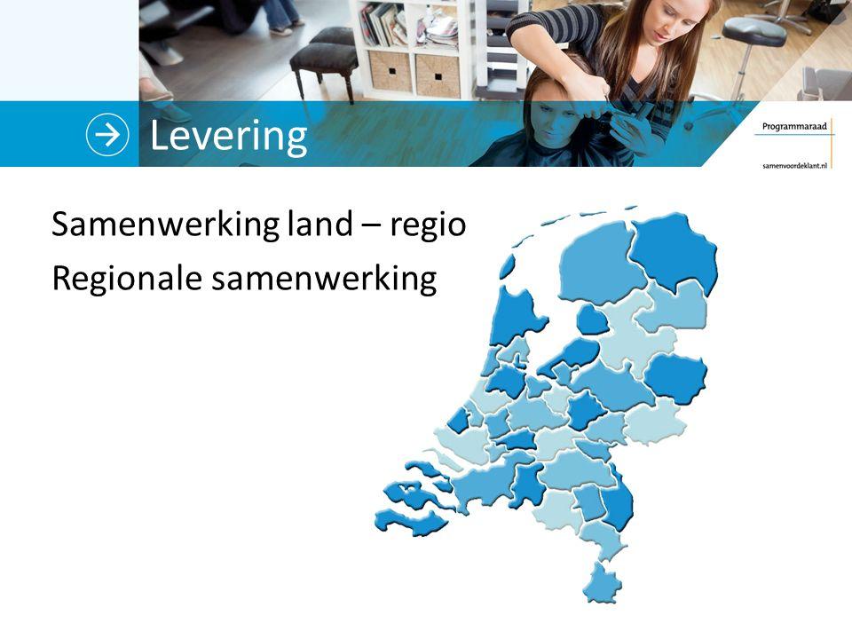 Levering Samenwerking land – regio Regionale samenwerking