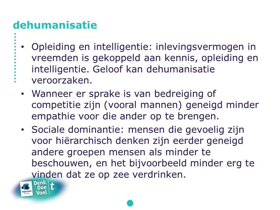 Opleiding en intelligentie: inlevingsvermogen in vreemden is gekoppeld aan kennis, opleiding en intelligentie.