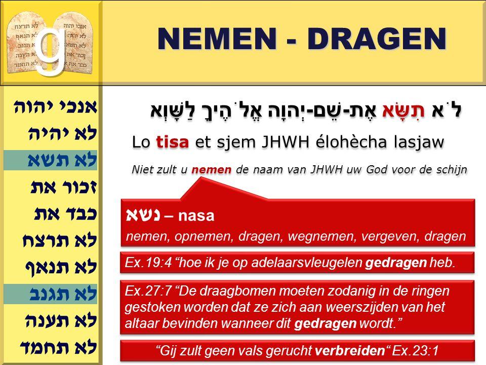 Gerard J.Wijtsma NEMEN - DRAGEN Ex.19:4 hoe ik je op adelaarsvleugelen gedragen heb.