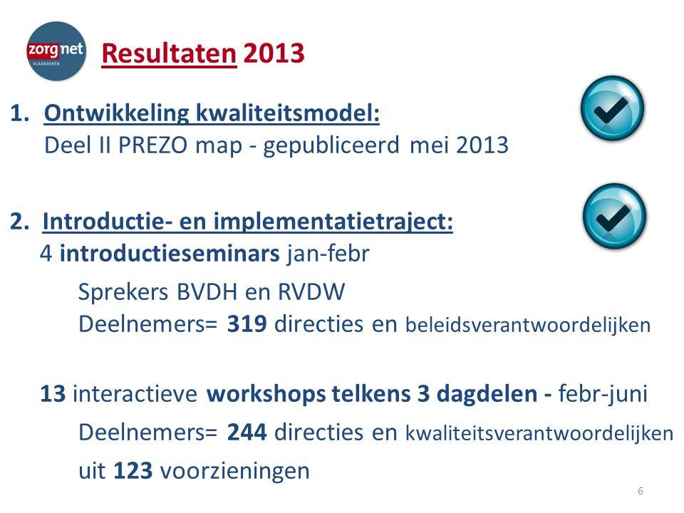 Resultaten 2013 3.Ontwikkeling ondersteunend ICT- platform – Procedure voor selectie van ICT-bouwer/uitbater werd doorlopen, en leidde tot keuze voor Pyxima.