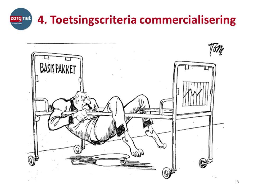 4. Toetsingscriteria commercialisering 18