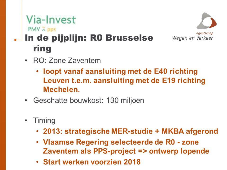 RO: Zone Zaventem loopt vanaf aansluiting met de E40 richting Leuven t.e.m.