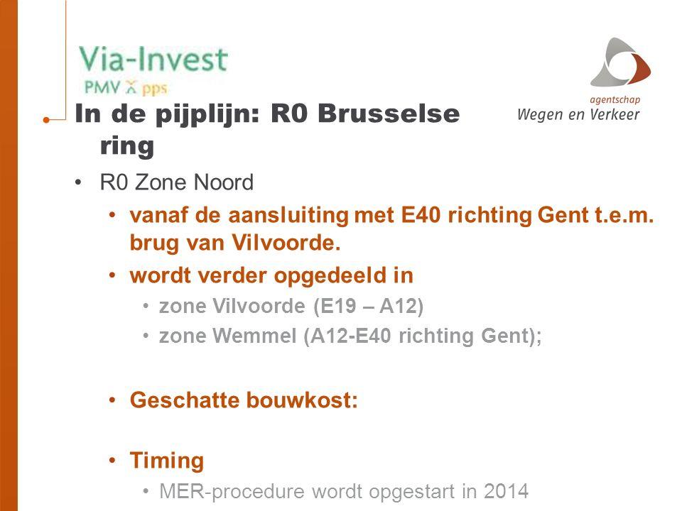 R0 Zone Noord vanaf de aansluiting met E40 richting Gent t.e.m.