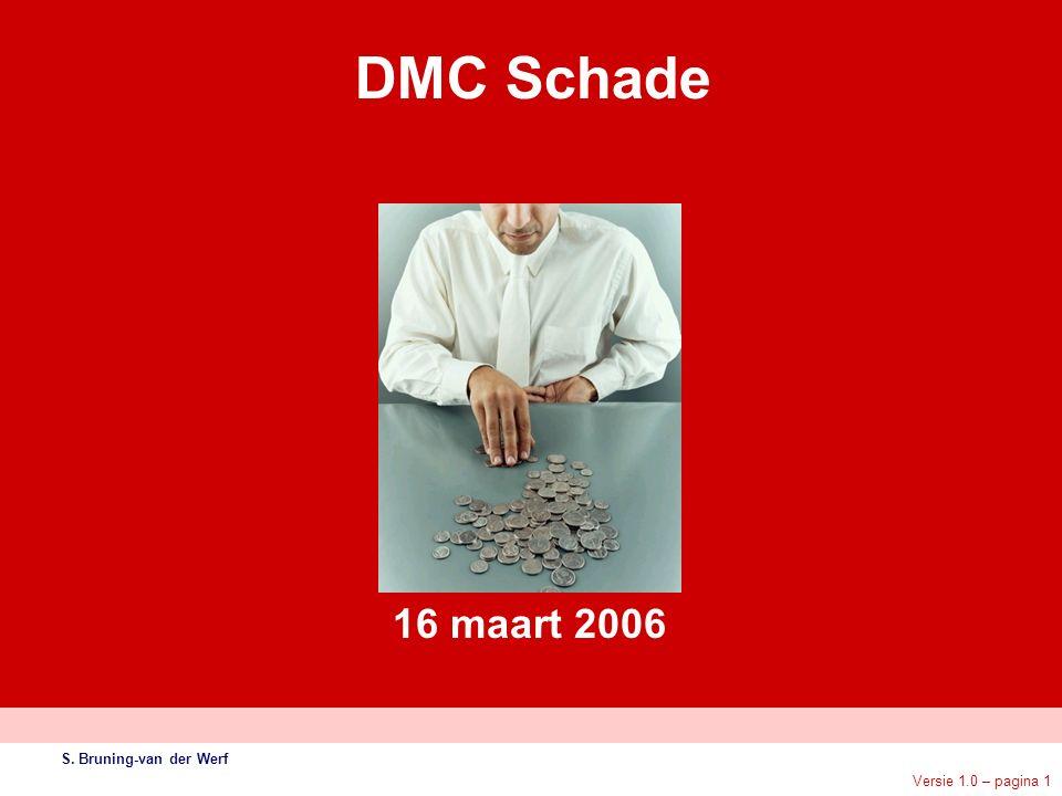 Versie 1.0 – pagina 1 DMC Schade S. Bruning-van der Werf 16 maart 2006