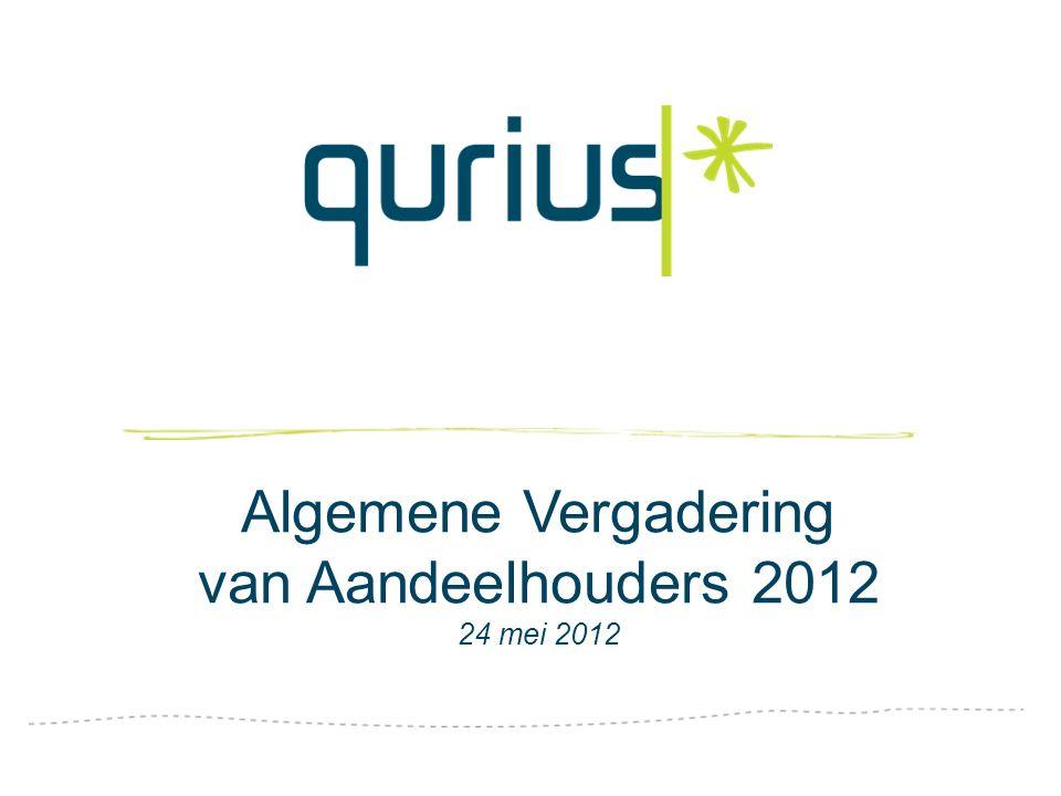 Algemene Vergadering van Aandeelhouders 2012 24 mei 2012