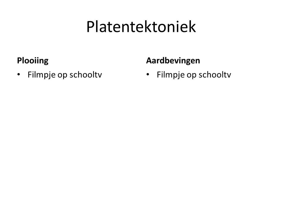 Platentektoniek PlooiingAardbevingen Filmpje op schooltv