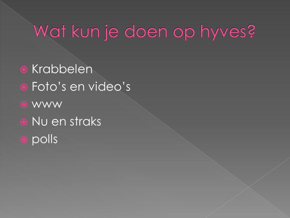  Krabbelen  Foto's en video's  www  Nu en straks  polls