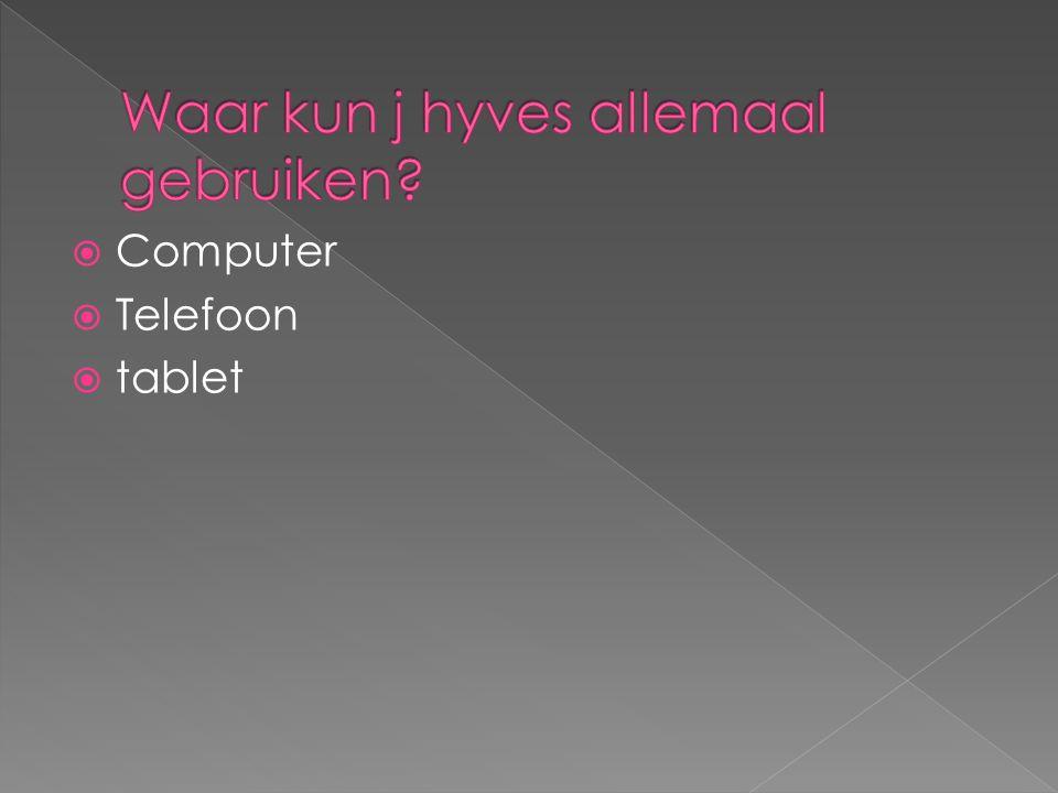  Computer  Telefoon  tablet
