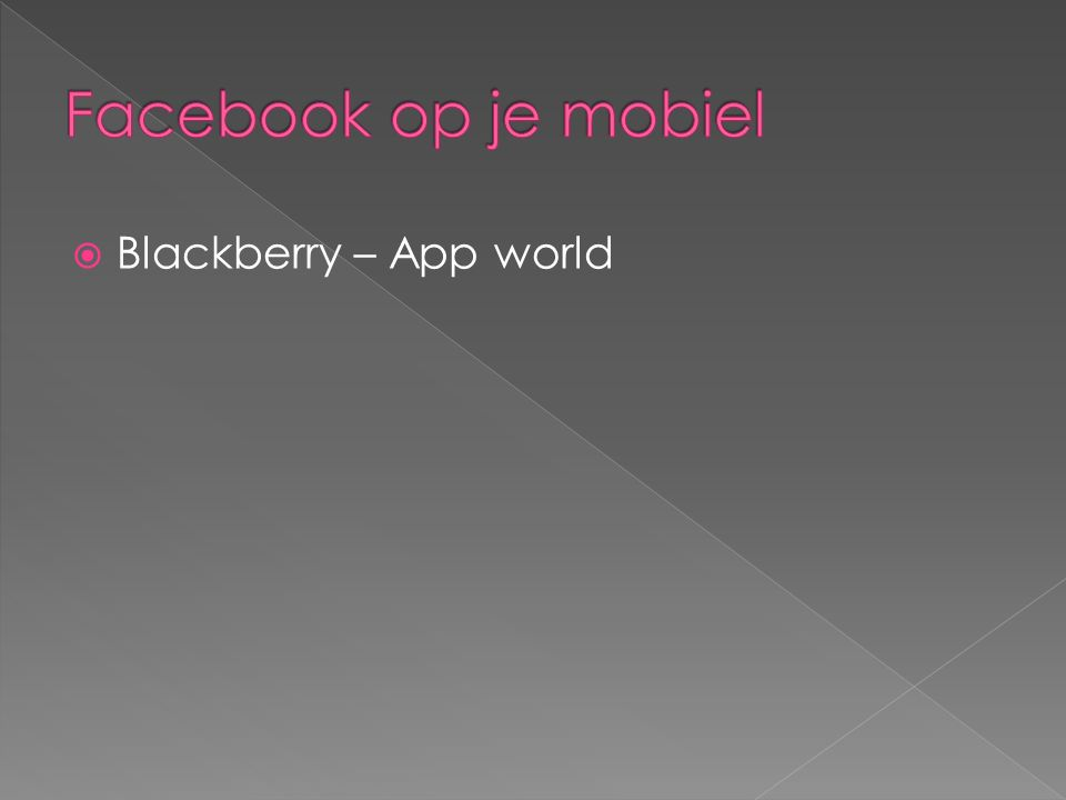  Blackberry – App world