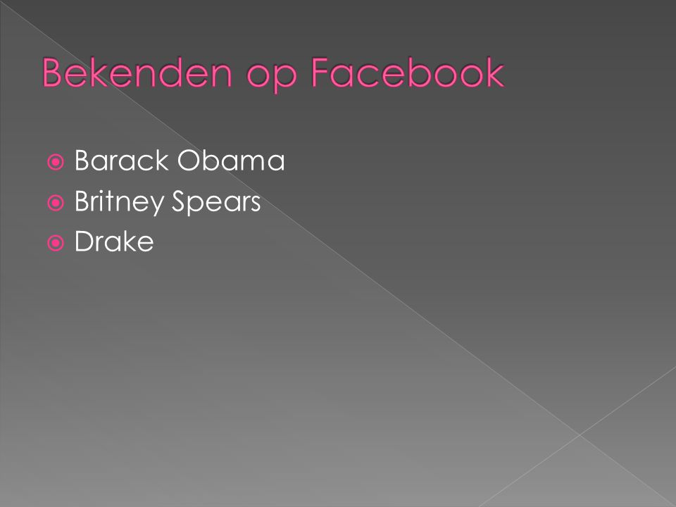  Barack Obama  Britney Spears  Drake