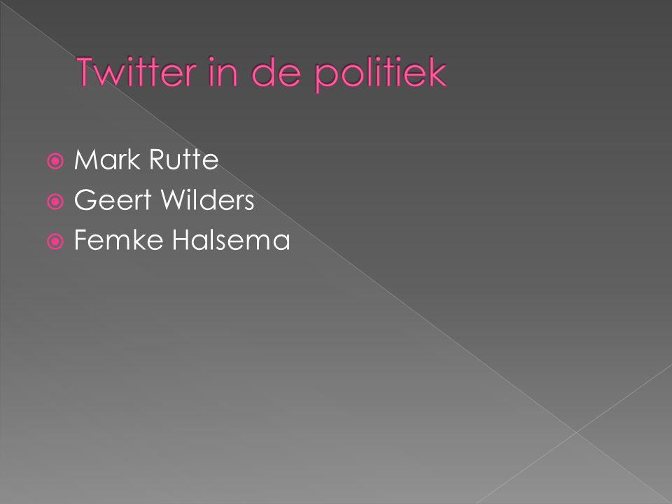  Mark Rutte  Geert Wilders  Femke Halsema