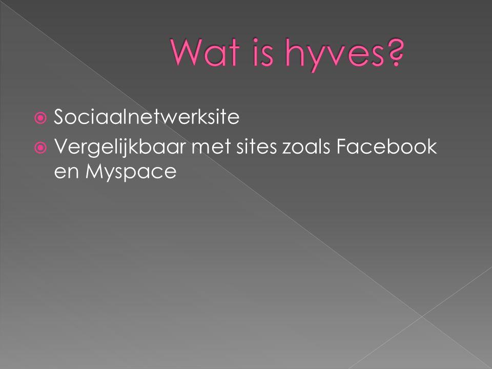  Sociaalnetwerksite  Vergelijkbaar met sites zoals Facebook en Myspace