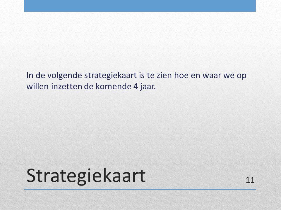 Strategiekaart In de volgende strategiekaart is te zien hoe en waar we op willen inzetten de komende 4 jaar. 11