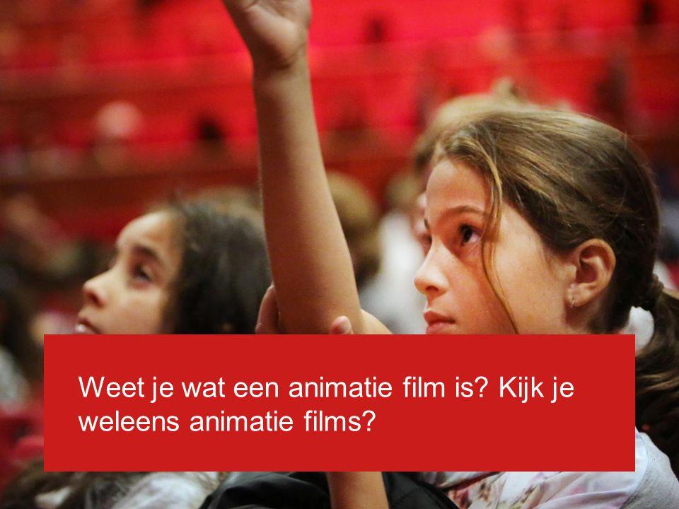 Animatie Een animatiefilm is een film waarin geen levende mensen spelen, maar getekende / gemaakte figuren.
