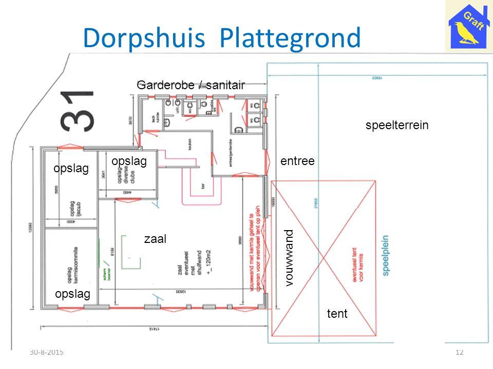 Dorpshuis Plattegrond 30-8-201512 zaal tent opslag Garderobe / sanitair speelterrein vouwwand entree
