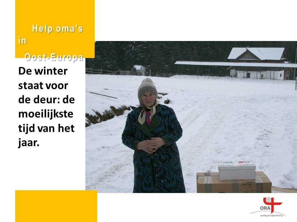 De winter staat voor de deur: de moeilijkste tijd van het jaar.