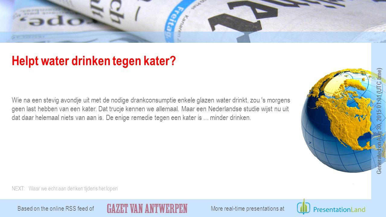 Helpt water drinken tegen kater.
