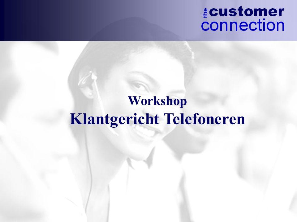 Doelstellingen  Presentatie uitkomsten bereikbaarheidsonderzoek  Presentatie richtlijnen klantgericht telefoneren  Verbeteren telefonische dienstverlening