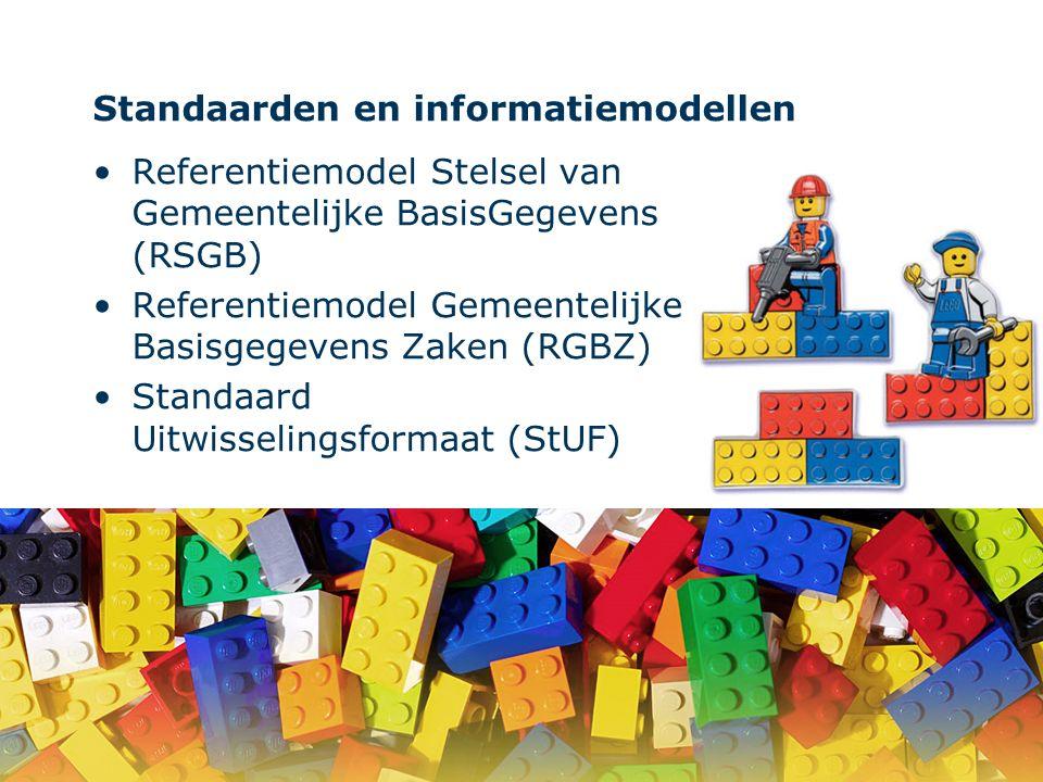 Standaarden en informatiemodellen Referentiemodel Stelsel van Gemeentelijke BasisGegevens (RSGB) Referentiemodel Gemeentelijke Basisgegevens Zaken (RG