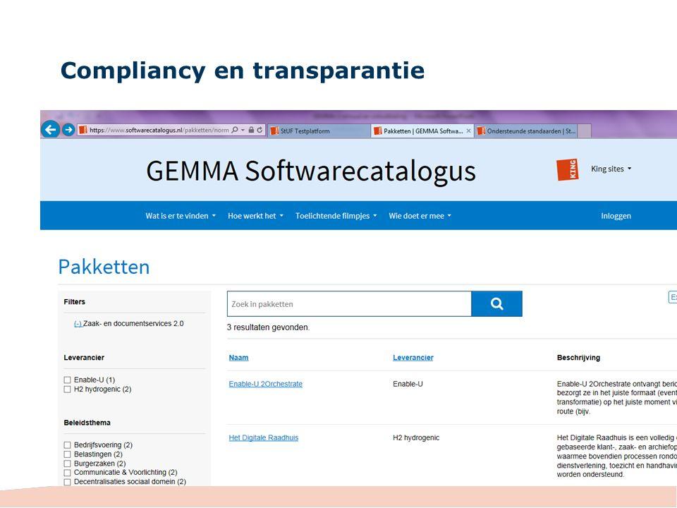 Compliancy en transparantie