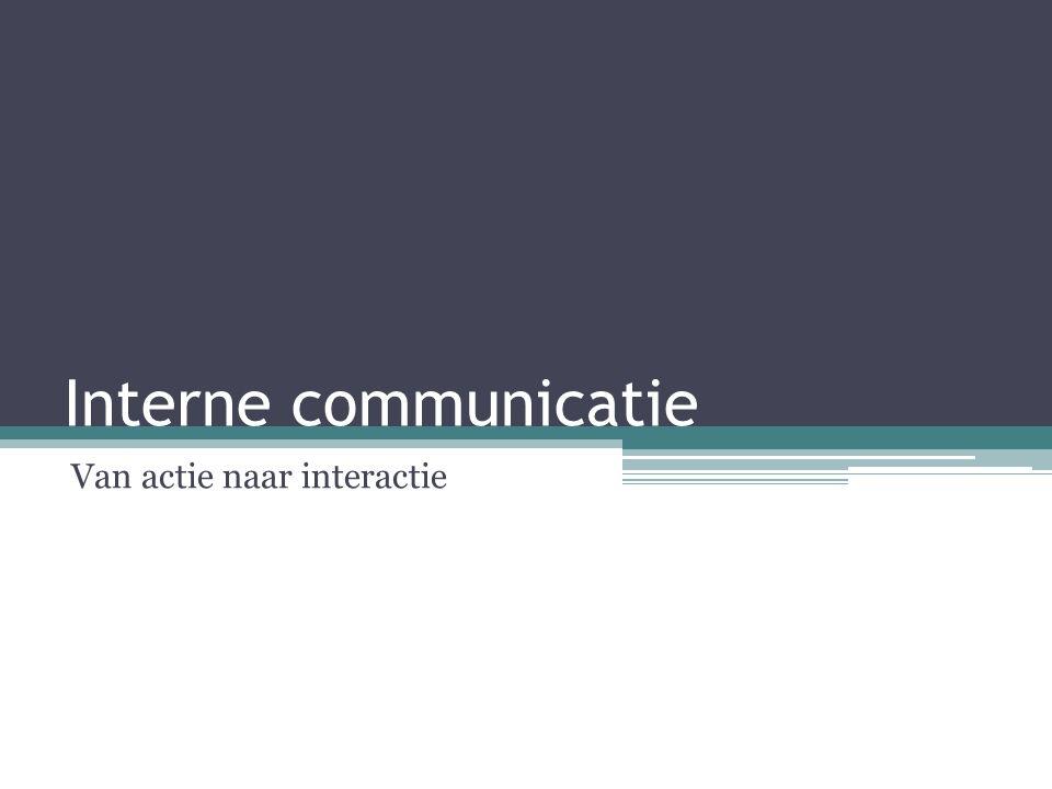 Interne communicatie Van actie naar interactie