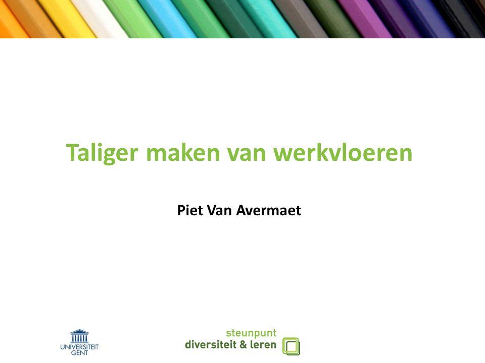Taliger maken van werkvloeren Piet Van Avermaet