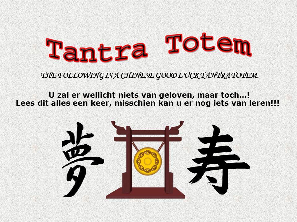 NU komt het leukste.Deze Tantra Totem is u opgestuurd voor uw geluk.