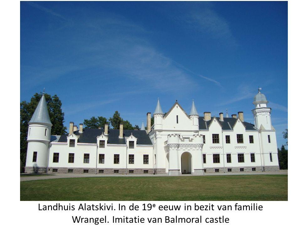 Landhuis Alatskivi. In de 19 e eeuw in bezit van familie Wrangel. Imitatie van Balmoral castle