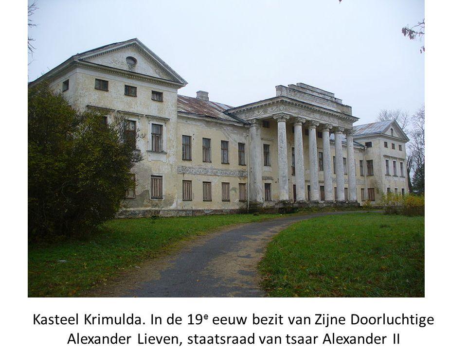 Kasteel Krimulda. In de 19 e eeuw bezit van Zijne Doorluchtige Alexander Lieven, staatsraad van tsaar Alexander II
