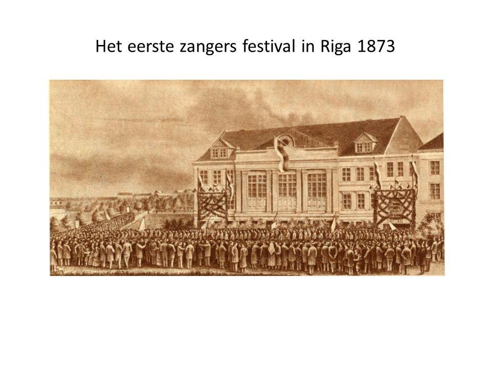 Het eerste zangers festival in Riga 1873