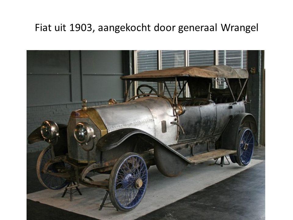 Fiat uit 1903, aangekocht door generaal Wrangel