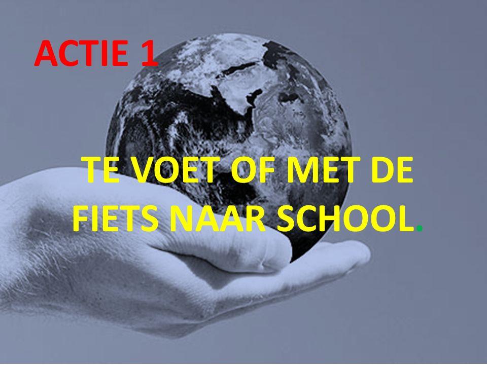 Wat doen wij op school ACTIE 1 TE VOET OF MET DE FIETS NAAR SCHOOL.