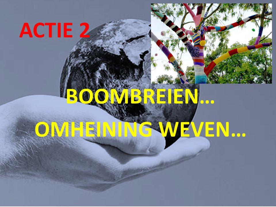 ACTIE 2 BOOMBREIEN… OMHEINING WEVEN…