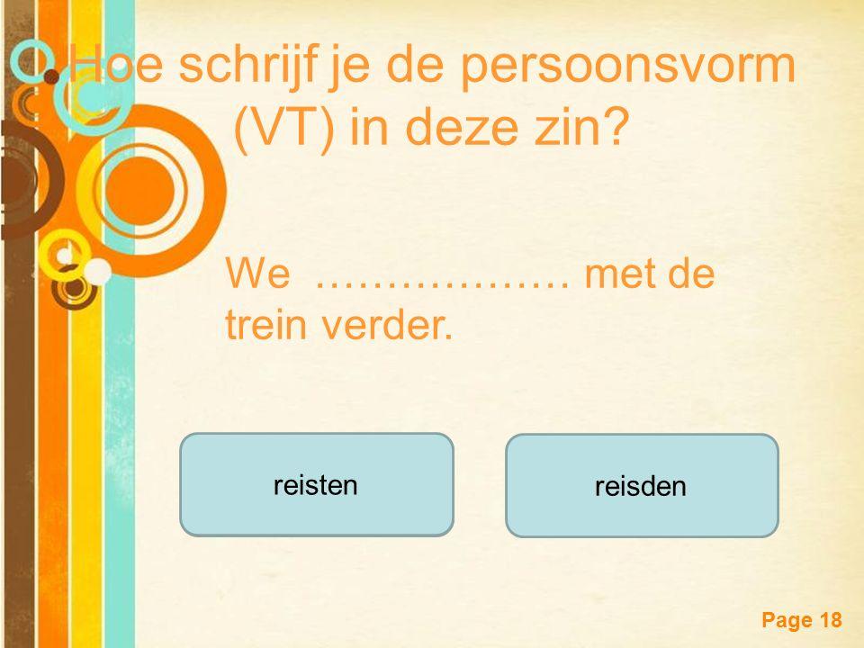 Free Powerpoint Templates Page 17 scheerdeschoor Hoe schrijf je de persoonsvorm (VT) in deze zin.