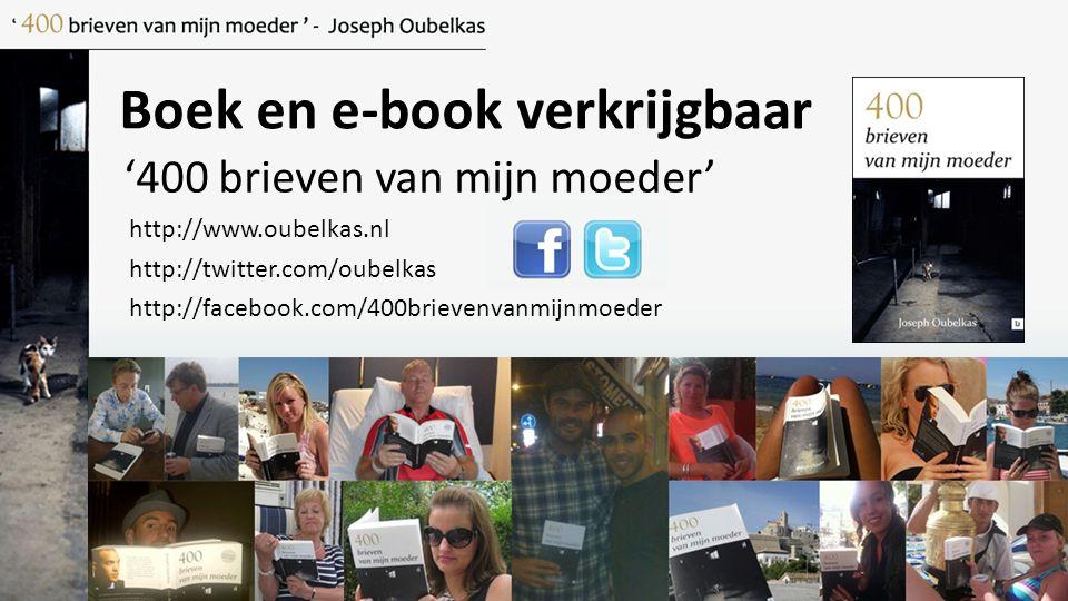 Boek en e-book verkrijgbaar '400 brieven van mijn moeder' http://www.oubelkas.nl http://twitter.com/oubelkas http://facebook.com/400brievenvanmijnmoed