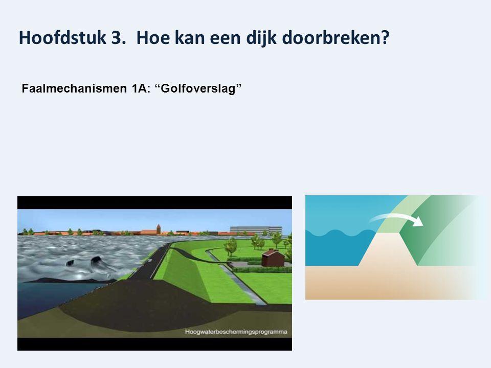 """Hoofdstuk 3. Hoe kan een dijk doorbreken? Faalmechanismen 1A: """"Golfoverslag"""""""
