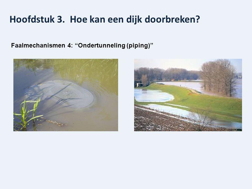"""Hoofdstuk 3. Hoe kan een dijk doorbreken? Faalmechanismen 4: """"Ondertunneling (piping)"""""""