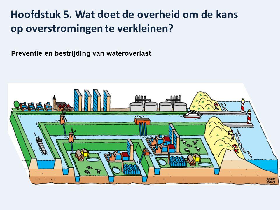 Preventie en bestrijding van wateroverlast Hoofdstuk 5. Wat doet de overheid om de kans op overstromingen te verkleinen?