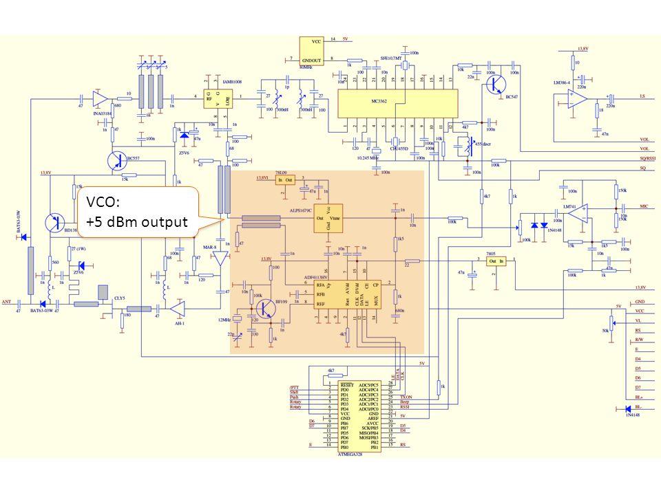 VCO: +5 dBm output VCO: +5 dBm output