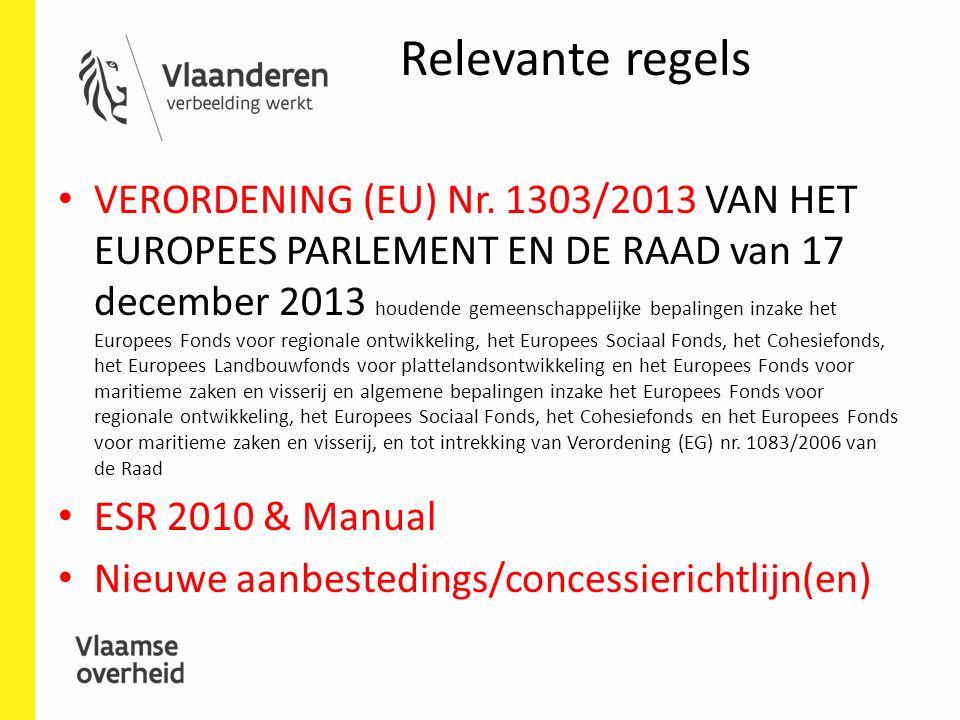 Relevante regels VERORDENING (EU) Nr.