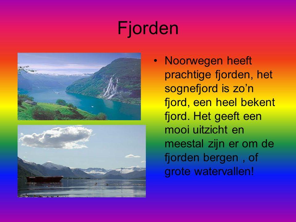 Fjorden Noorwegen heeft prachtige fjorden, het sognefjord is zo'n fjord, een heel bekent fjord.