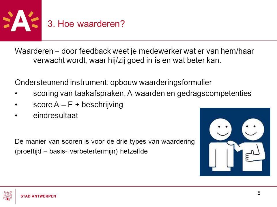 Waarderen = door feedback weet je medewerker wat er van hem/haar verwacht wordt, waar hij/zij goed in is en wat beter kan. Ondersteunend instrument: o