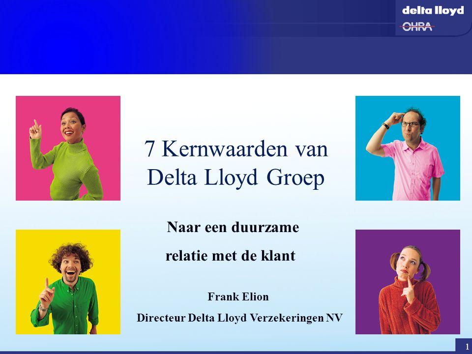 2 Programma vanmiddag  Wie is Delta Lloyd Groep  Uitleg kernwaarden Delta Lloyd  Het kernwaardenspel spelen