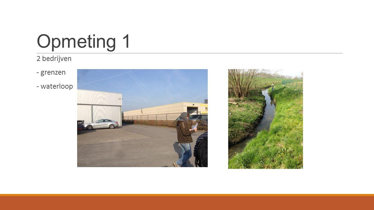 Opmeting 1 2 bedrijven - grenzen - waterloop