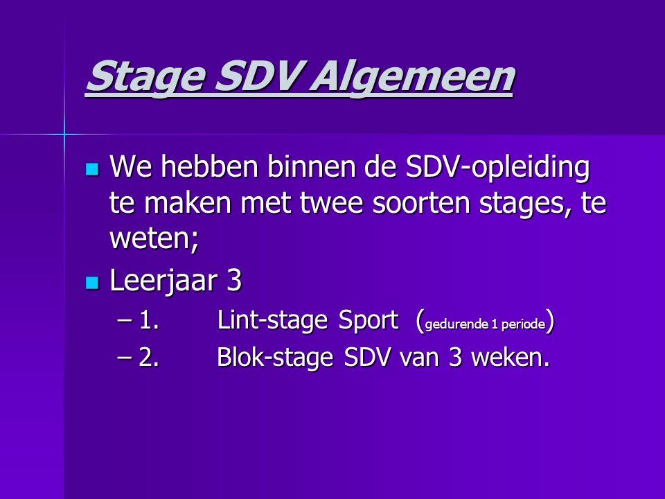 Blok- stage leerjaar 3 Duur:3 weken.Duur:3 weken.