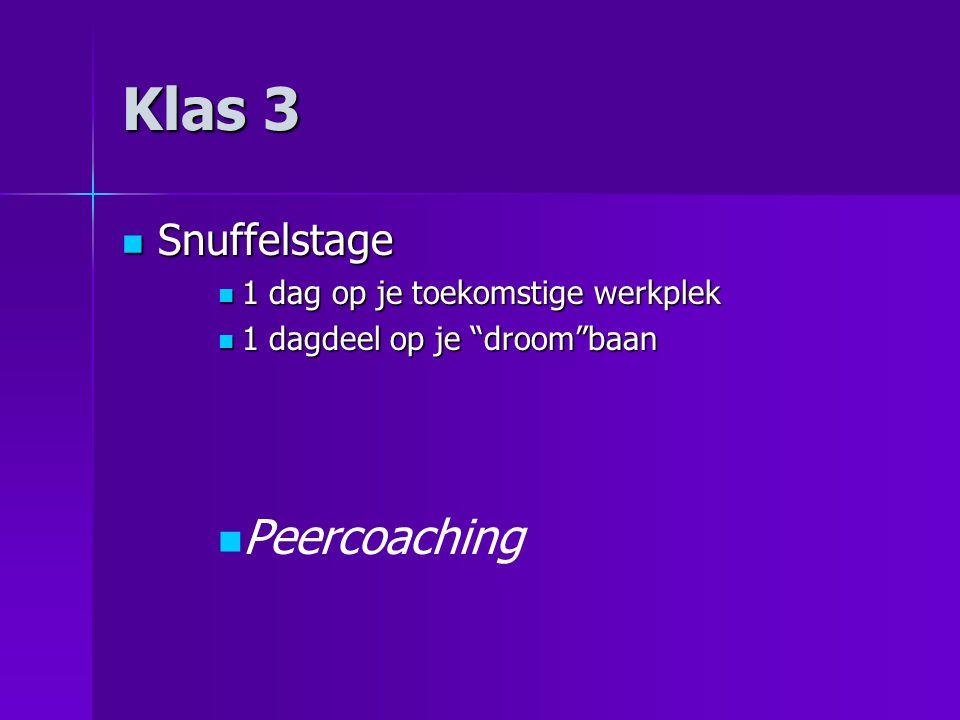 Klas 4 Traditionele stage Traditionele stage Leerlingen gaan 4 weken de school uit Leerlingen gaan 4 weken de school uit Voor- nadelen.