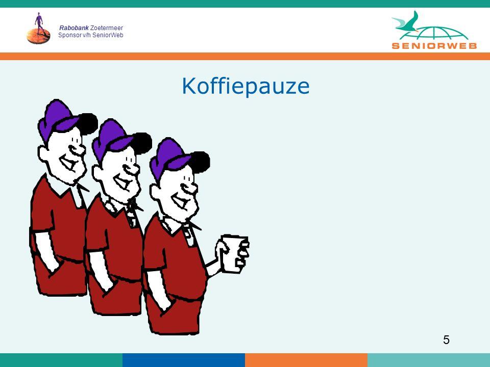 Rabobank Zoetermeer Sponsor v/h SeniorWeb 5 Koffiepauze