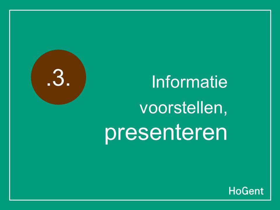 Informatie voorstellen, presenteren.3.